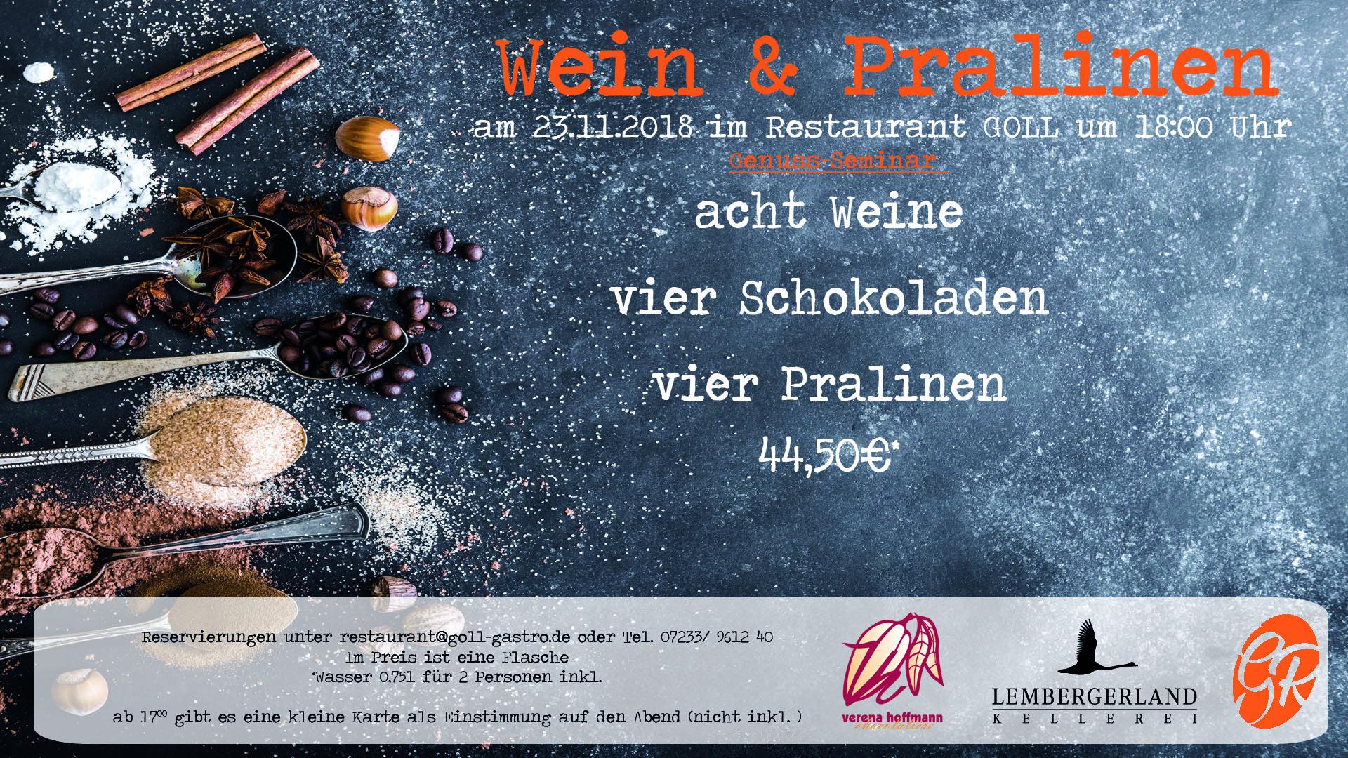 Wein & Pralinen